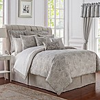 Waterford® Sophia Reversible King Comforter Set in Platinum