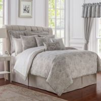 Waterford® Sophia Reversible Queen Comforter Set in Platinum