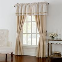 Waterford® Linens Britt 84-Inch Rod Pocket Window Curtain Panel Pair in Gold
