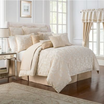 waterford linens britt california king comforter set in gold - Cal King Comforter Sets