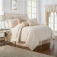 Waterford® Linens Britt Queen Comforter Set in Gold
