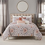 Bridge Street Marabelle Full/Queen Comforter Set in White/Taupe
