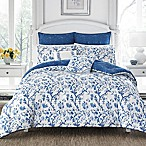 Laura Ashley Elise Full/Queen Comforter Set in Navy