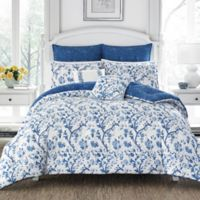 Laura Ashley Elise Twin Comforter Set in Navy