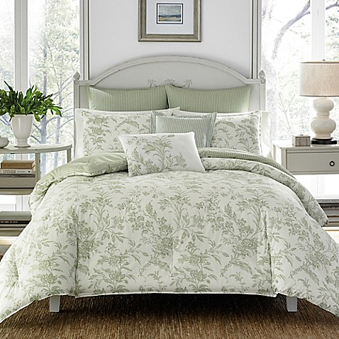 laura ashley natalie reversible comforter set bed bath. Black Bedroom Furniture Sets. Home Design Ideas