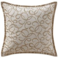 Waterford® Chantelle Metallic Square Throw Pillow in Taupe