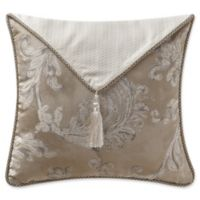 Waterford® Chantelle Tassel Flap Square Throw Pillow in Taupe