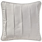 Waterford® Sophia Pleated Square Throw Pillow in Platinum