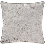 Waterford® Sophia Square Throw Pillow in Platinum