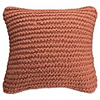 Bridge Street Marabelle Knit Square Throw Pillow in Orange