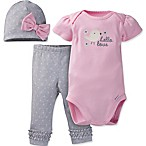 Gerber® Size 3M 3-Piece  Hello Love  Organic Cotton Bodysuit, Pant, and Hat Set
