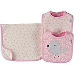 Gerber® 3-Piece Daisy Bird Organic Cotton Bib and Burp Cloth Set