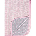 Gerber® Daisy Heart Organic Cotton Blanket in Pink/Grey