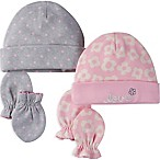 Gerber® 4-Piece Daisy Dot Organic Cotton Cuffed Cap and Mitten Set