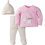 Gerber® Size 3M Love Bird Organic Cotton Top, Pant, and Hat Take Me Home Set