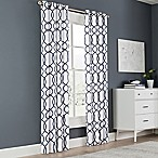 Newport Wave 54-Inch Light-Filtering Grommet Top Window Curtain Panel in Blue