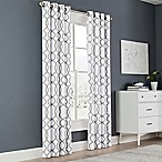 Newport Wave 84-Inch Light-Filtering Grommet Top Window Curtain Panel in Slate
