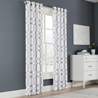Newport Wave 108-Inch Light-Filtering Grommet Top Window Curtain Panel in Slate