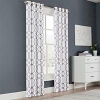 Newport Wave 84-Inch Light-Filtering Grommet Top Window Curtain Panel in Slate
