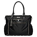 Itzy Ritzy® Diaper Bag Tote in Black Herringbone