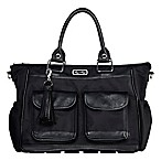 Itzy Ritzy® Covertible Diaper Bag in Black Herringbone