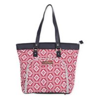 Jenni Chan Aria Snow Flake 18-Inch Computer Tote in Red