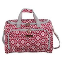 Jenni Chan Aria Snow Flake 17-Inch City Duffle Bag in Red