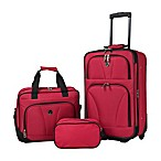 Traveler's Club® Bowman 3-Piece Luggage Set in Red