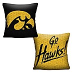 University of Iowa Woven Square Throw Pillow
