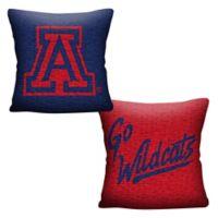 University of Arizona Woven Square Throw Pillow