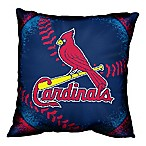 MLB St. Louis Cardinals Woven Square Throw Pillow