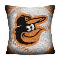 MLB Baltimore Orioles Woven Square Throw Pillow