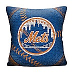 MLB New York Mets Woven Square Throw Pillow