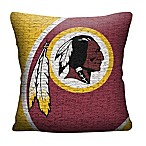 NFL Washington Redskins Woven Square Throw Pillow