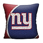 NFL New York Giants Woven Square Throw Pillow