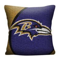 NFL Baltimore Ravens Woven Square Throw Pillow
