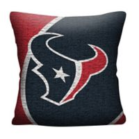 NFL Houston Texans Woven Square Throw Pillow