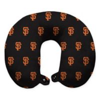 MLB San Francisco Giants Plush Microfiber Travel Pillow with Snap Closure