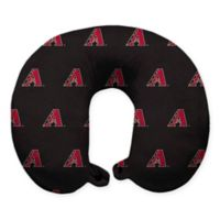 MLB Arizona Diamondbacks Plush Microfiber Travel Pillow with Snap Closure
