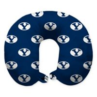 Brigham Young University Plush Microfiber Travel Pillow with Snap Closure