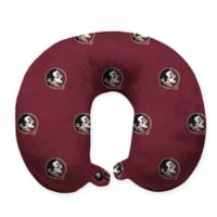 Florida State University Plush Microfiber Travel Pillow with Snap Closure