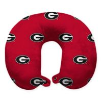 University of Georgia Plush Microfiber Travel Pillow with Snap Closure