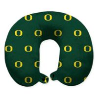 University of Oregon Plush Microfiber Travel Pillow with Snap Closure