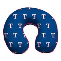 MLB Texas Rangers Plush Microfiber Travel Pillow