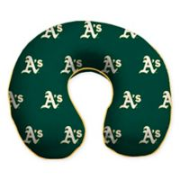 MLB Oakland Athletics Plush Microfiber Travel Pillow