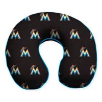 MLB Miami Marlins Plush Microfiber Travel Pillow