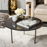 Safavieh Couture Ninibel Coffee Table in Black/Brown