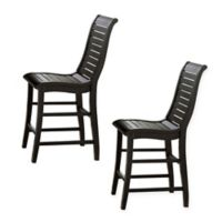 Uttermost Willow Counter Chairs in Distressed Black (Set of 2)