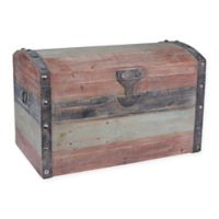 Household Essentials® Weathered Large Storage Trunk in Red