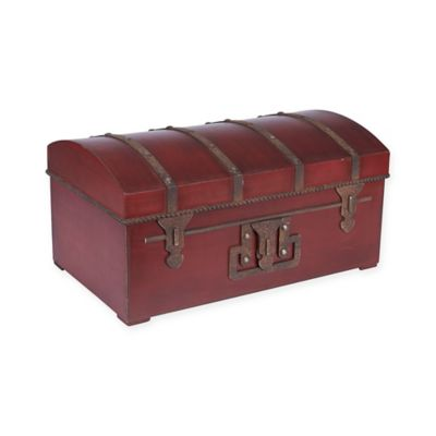 Household Essentials® Vintage Metal Storage Trunk In Green